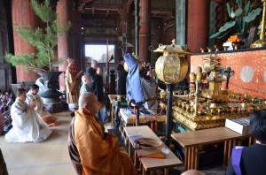 大仏殿で厳修された法要